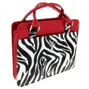 Zebra Print Bible Cover, Red, Large