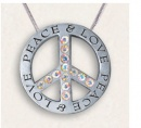 Love Peace: Crystal Cross Antique