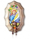 St. Michael The Archangel Wooden Rosary Holder