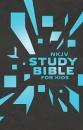 NKJV Study Bible for Kids--soft leather-look, grey/blue