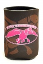 Duck Commander Can Cooler With Logo (Brown/Pink)