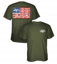 Duck Commander American Flag Shirt: Moss | Small